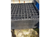 Plastic pallets 8 available size 1200 mm x 1000 mm. Other sizes used