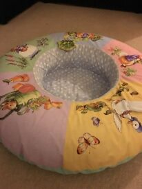 Winnie the Pooh baby rubber inflatable ring seat support sitter upper