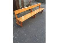 Charming Vintage Solid Oak Large Church Pew/Settle/ Bench