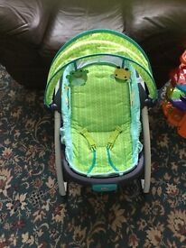 light up, vibrating musical baby chair