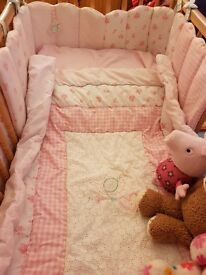 Baby girl cot bedding and accessories