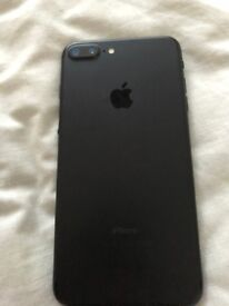 selling iphone 7 PLUS 32gb UNLOCKED MINT CONDITION MATTE BLACK WITH WARRANTY - NO BOX AND POWER PLUG