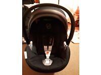 Cybex Aton Q 0+ car seat and cybex isofix base