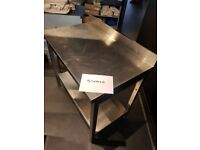 Stainless Steel Prep Table with Upstand 1000mm - £150