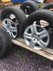 205/55r16 Hankook WINTER tyres on Vauxhall steel 5 stud rims