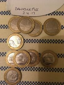 Various £2 and 50p coins for sale