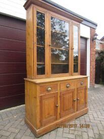 Late Victorian pine dresser