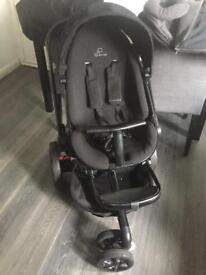 Quinny pushchair black with car seat and accessories