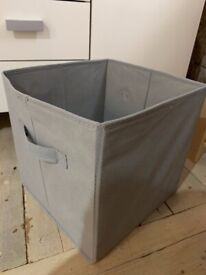 Grey and Pink Foldable Storage Boxes