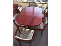 McIntosh table & 6 chairs