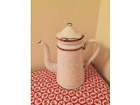 Vintage French marble enamel coffee pot