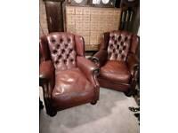 Oskar chesterfield tetrad chairs