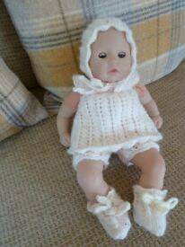 New hand knitted outfit for a 36 cm baby doll