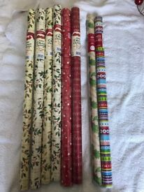 Christmas Wrapping paper 8 rolls
