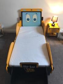 JCB bed, wardrobe and bedside table
