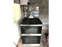 Zanussi free standing cooker with double oven