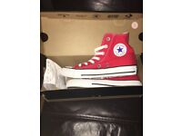 Converse Hi - Tops Red size 3 Brand new