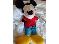 Large cuddly Mickey Mouse