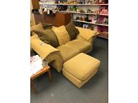 Gold sofa set Sue Ryder abbeydale