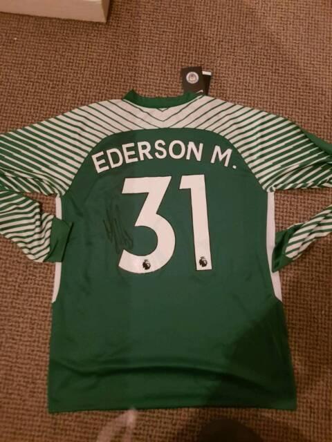 best website 4cc0d 24077 Ederson signed Manchester City Goalkeeper Shirt - WITH PROOF | in Beswick,  Manchester | Gumtree