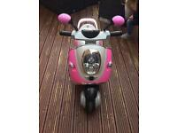Electric BMW Pink Ride On Scooter