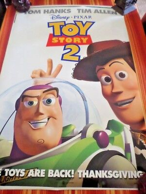 TOY STORY 2 MOVIE POSTER DOUBLE Sided ORIGINAL 27x40 DISNEY TIM ALLEN TOM
