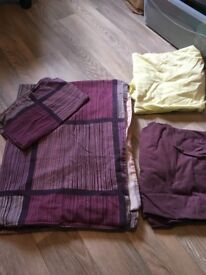 Single Bed Quilt cover and fitted sheets set Purple and Pink, Yellow