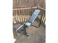 flat and incline bench with leg curl