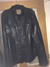 Pearly king leather shirt