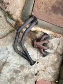 Corsa gsi exhaust manifold and down pipe