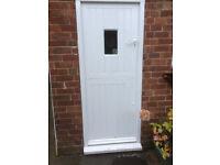 Wooden insulated stable door