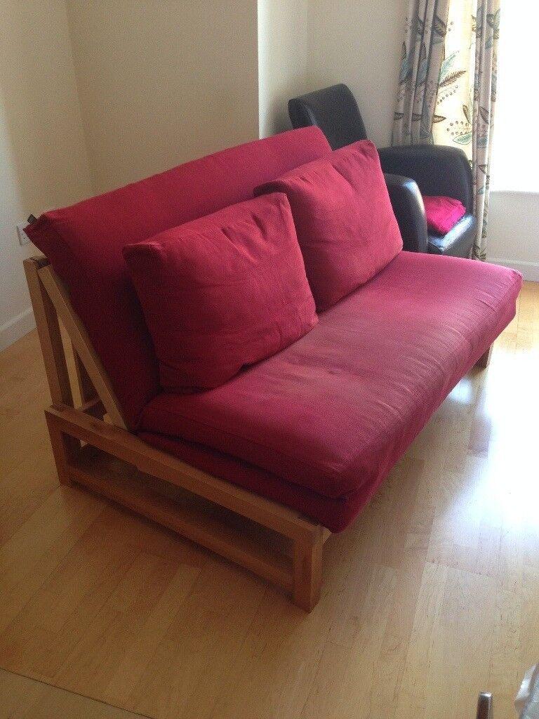 Oak Double Sofa Bed From Futon Company