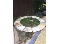 limestone's circle edge for pond or grass