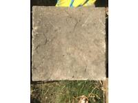 17 paving slabs 45 x 45 and a bag of 25kg cement £2 a slab and £3 cement