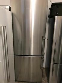 Liebherr stainless steel tall fridge freezer