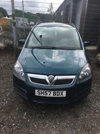 Vauxhall zafira 1.6 petrol, mot till february, 2 keys ,serviced recently , reliable family car.
