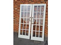 Doors with glass panes