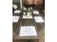 Wooden Garden table - can seat upto 10 people (table only)