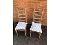 2 x grey/brown Ikea chairs