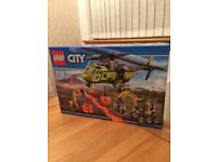 Lego City 60123 Volcano Supply Helicopter, NEW