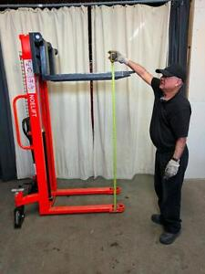 HOC ST11 - PALLET STACKER HAND STACKER LIFT TRUCK + 1 YEAR WARRANTY + FREE SHIPPING