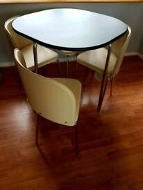 Brand new black table 4 cream chairs Ready to go!