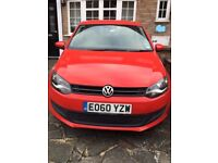 2010 VW Polo Red 1.2L. Petrol. Manual. 62810 miles. 3-Door Hatchback. 1 Lady Owner from New.