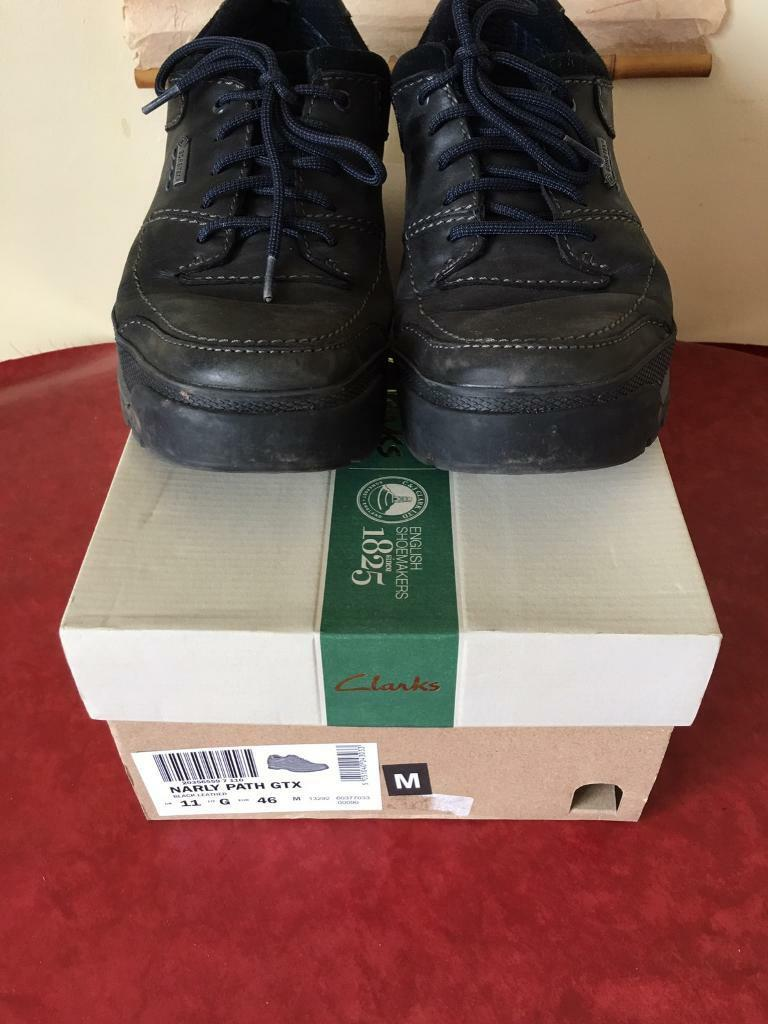 Clarks Narly Path GTX RRP £95 Gore-Tex Mens UK 11 G Black Leather