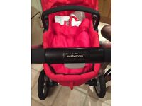 Red Mothercare My4 Pram/Pushchair