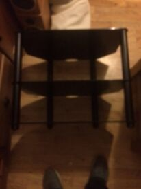 "JVC 32"" TV and glass 2 shelf stand"