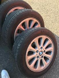 """BMW 16"""" Alloys with new tyres"""