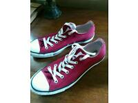 Red converse shoes only wore once