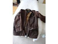 "Barbour Cowen commando waxed jacket 40""/102cm"
