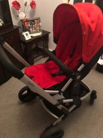 Mothercare Xpedior travel system with red colour pack